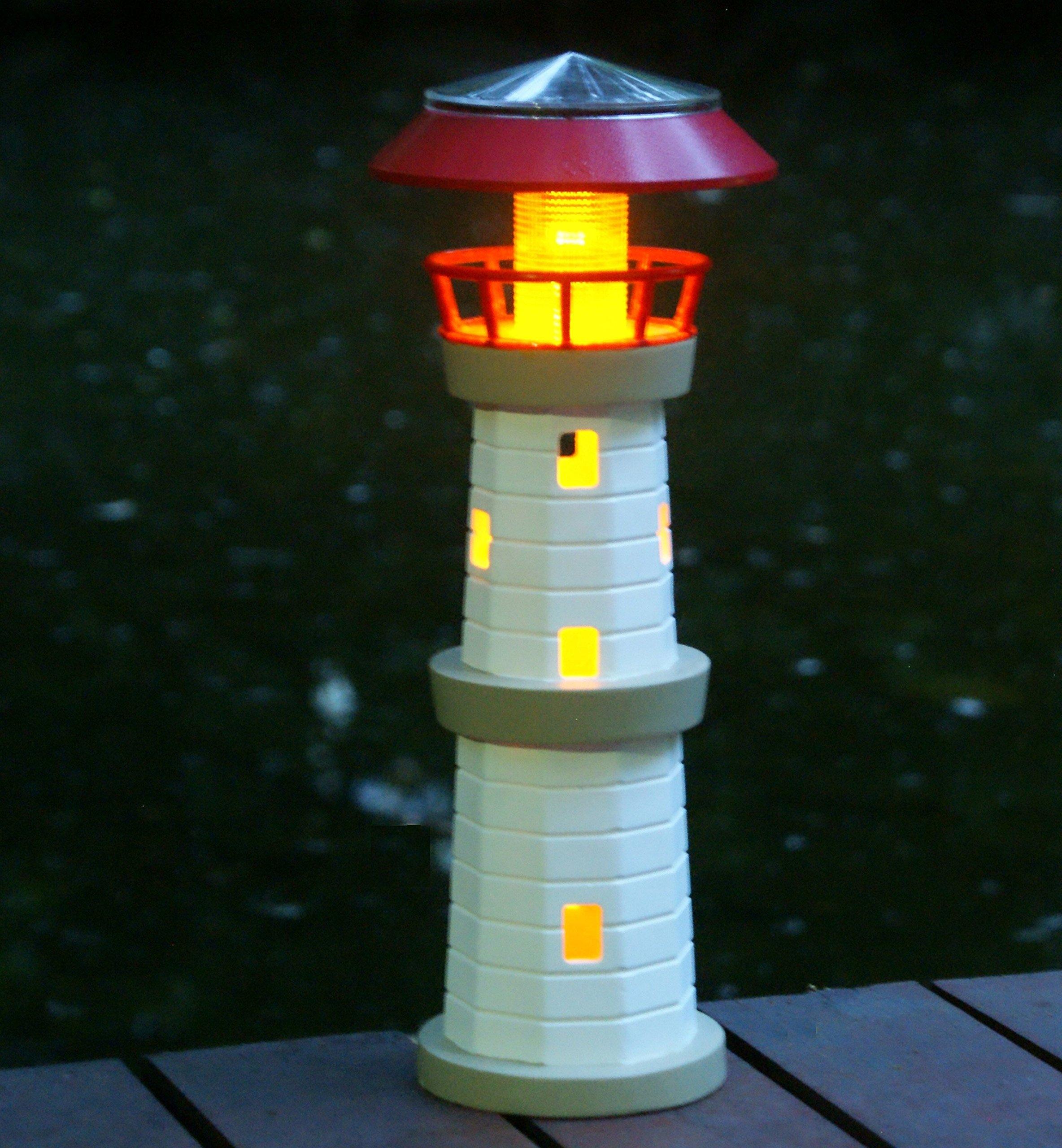 """Tiaan14"""" Solar powered Lighthouse Solar lighthouses for the yard Solar lights"""