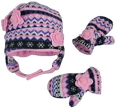 Amazon.com: N'Ice Caps Little Girls and Baby Fair Isle Fleece Hat ...
