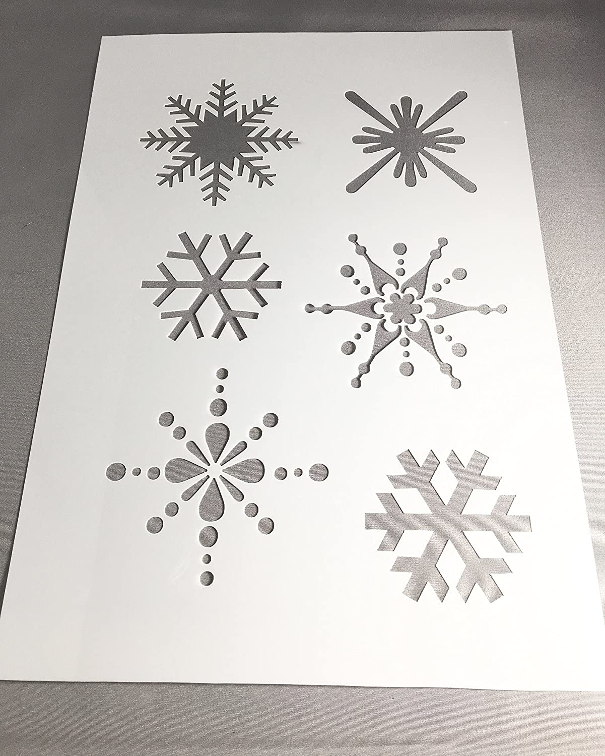 Christmas Snowflake Stencil, A4 125 or 190 film, Mylar Film Image Sizes from 60mm - 85mm Diameter