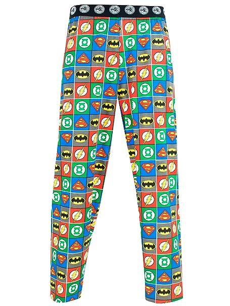 Justice League Pantalones de pijama para Hombre La Liga De La Justicia Medium