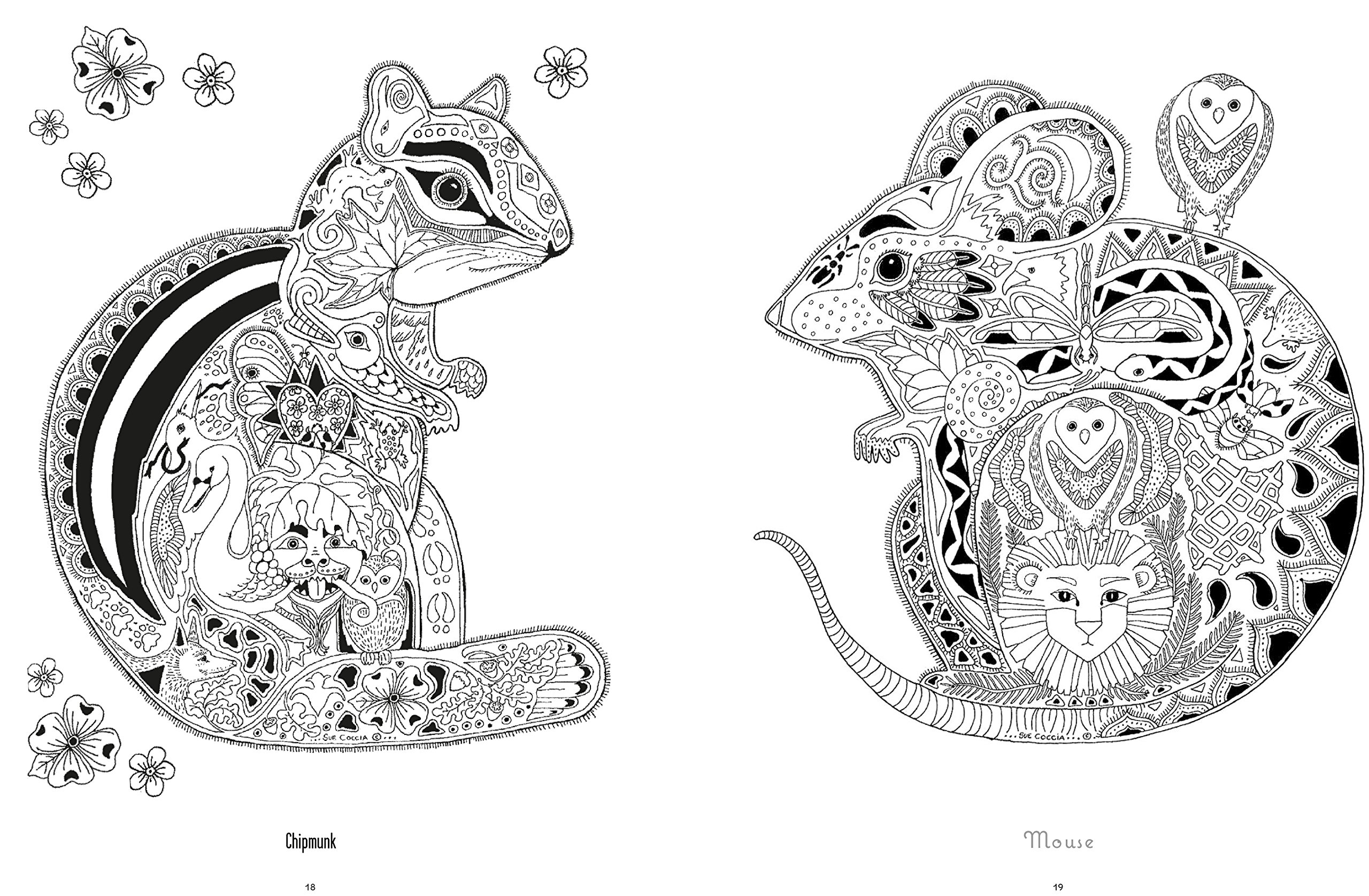amazoncom color yourself to calmness and reduce stress with these animal motifs adult coloring books 9781782493242 cico books books - Color Books For Adults