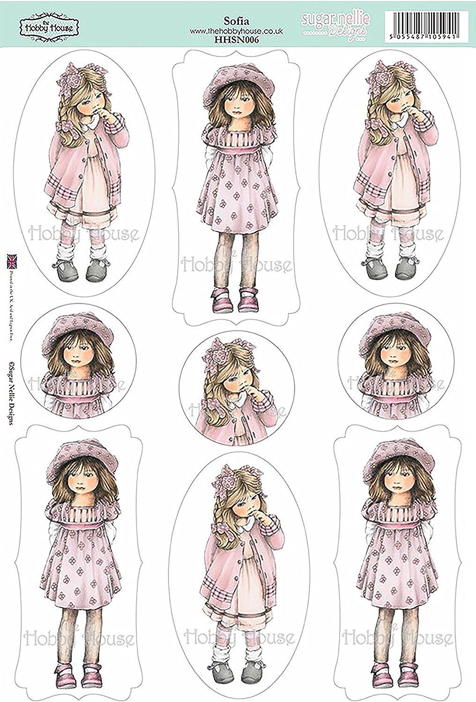 "Sugar Nellie Designs Topper Sheet 8.5/""X12.2/""-Sofia"