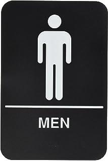 Men Restroom Sign Black/White   ADA