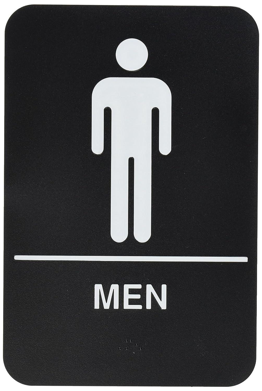 Amazon.com: Cartel para el baño para hombre, blanco ...