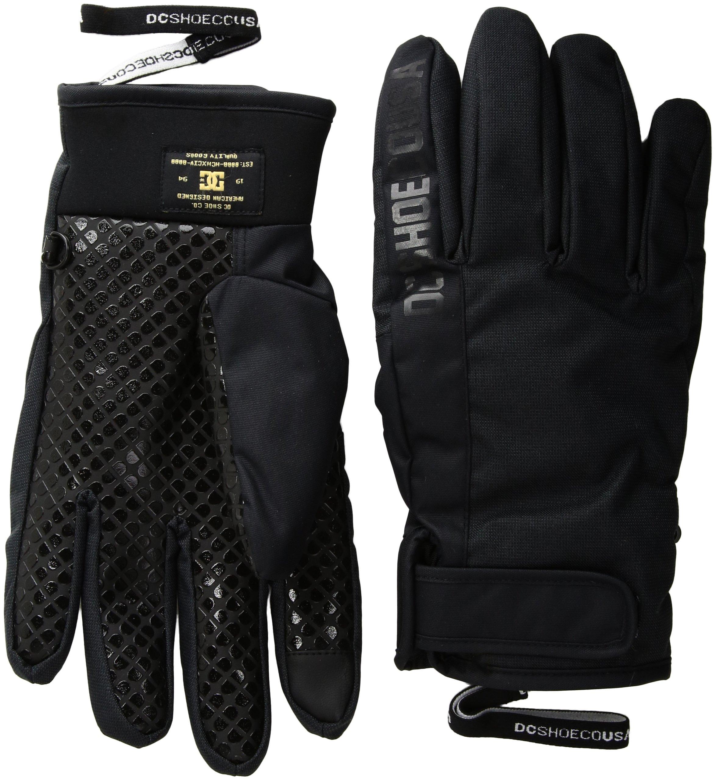 DC Men's Deadeye Snow Gloves, Black, L by DC