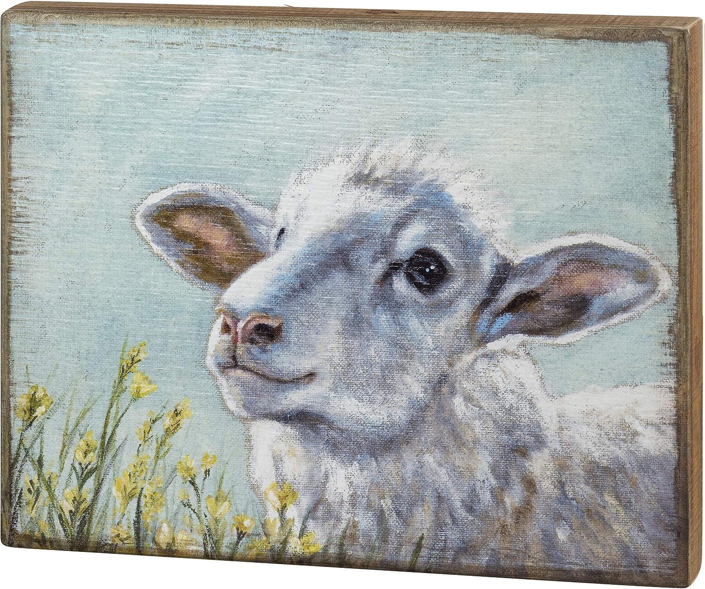 Primitives by Kathy Sheep Print Box Sign, 15