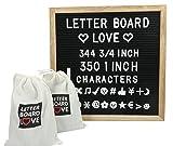 """12"""" x 12"""" Felt Letter Board W/Oak Frame - 300"""