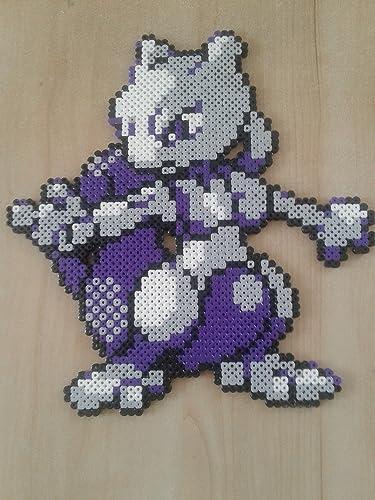 Pixel Art Mewtwo En Perles Midi Amazonfr Handmade