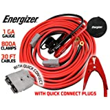 Energizer 1-Gauge 800A Permanent installation kit Jumper Battery Cables with Quick Connect plug 30 Ft Booster Jump Start ENB-130 - 30' Allows you to boost a battery from behind a vehicle!