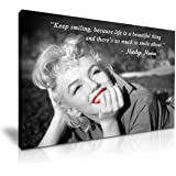 Marilyn Monroe Smile Quote Canvas Wall Art Picture Print 76 Cm X 50