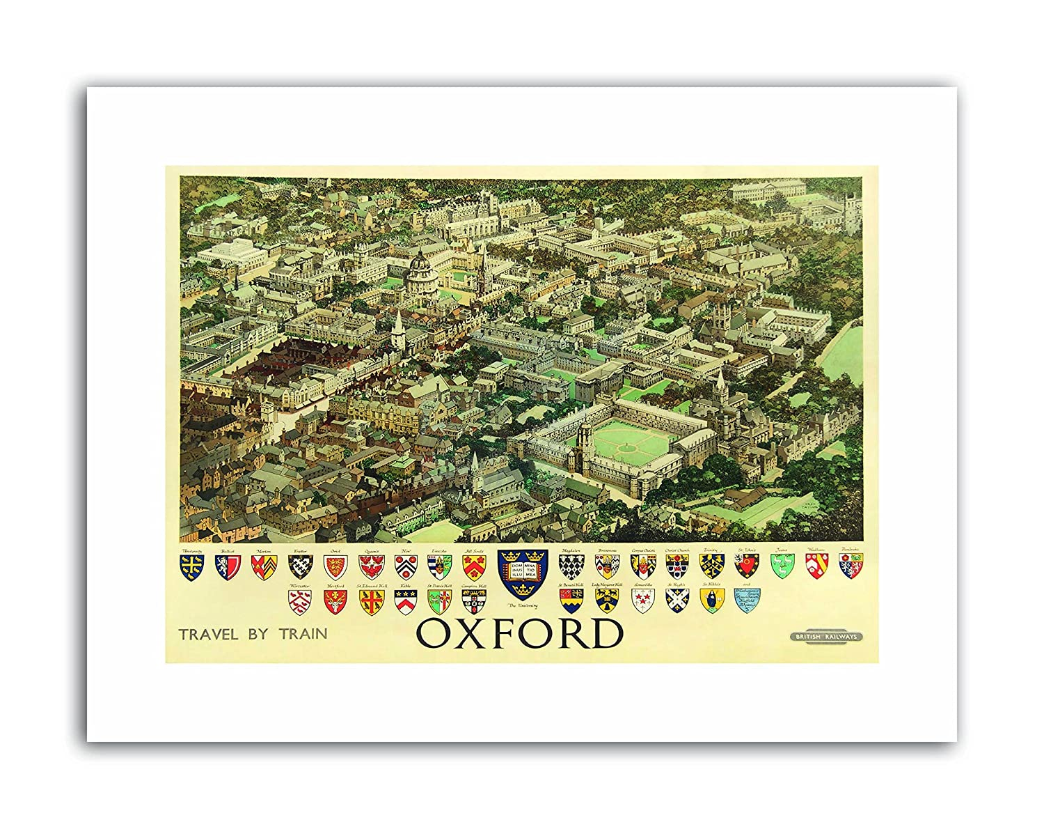 OXFORD ENGLAND BRITISH RAILWAYS CREST COAT OF ARMS HERALDRY Canvas art Prints