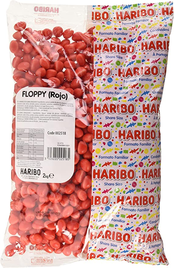 Haribo floppy rojo 2kg