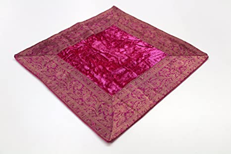 Indische kissen 40x40 cm Kissenhülle Kissenbezug Orientalischer Bezug Indien (Pink)