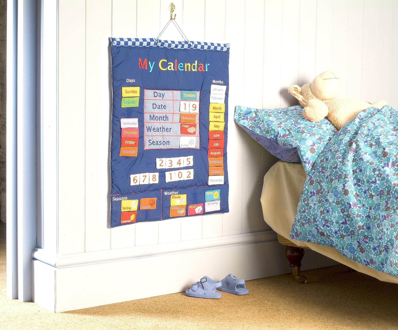 Wallhangings Calendario de tela para pared en ingl/és