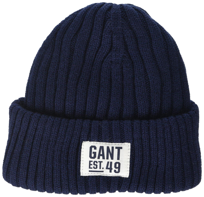 f8905272ccf Gant Men s Rib Beanie Evening Blue 433