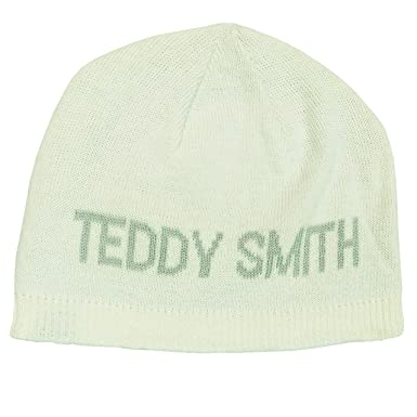 utilisation durable Site officiel belle couleur Teddy Smith Men's Fully Fashioned Pull-on Blanc Beanie Hat ...