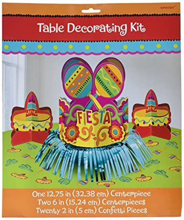 Fun-filled Fiesta Cinco de Mayo Party Table Decorating Kit  sc 1 st  Amazon.com : cinco de mayo table decorations ideas - www.pureclipart.com