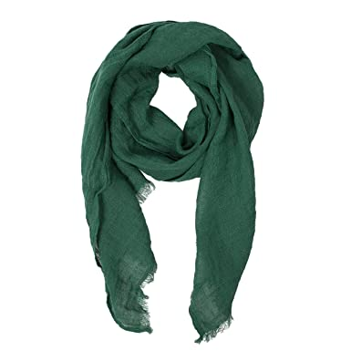 940c88e0fd6 Green Scarf | 100% Linen Scarf | Scarves For Women | Mens Scarf ...