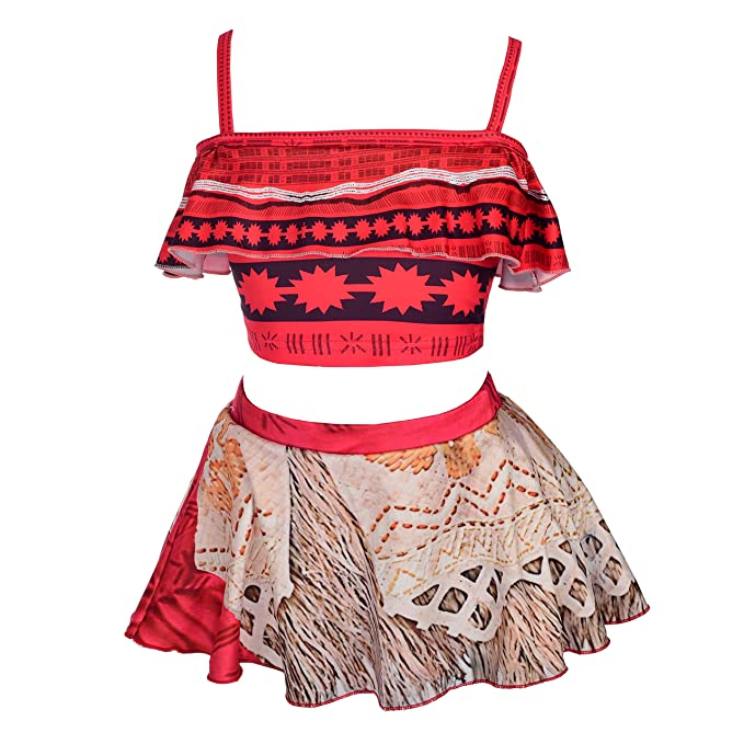 000b6bf829be Dressy Daisy Girls Princess Moana Adventure Bathing Suit Tankini Swimsuit  Swimwear Size 2T