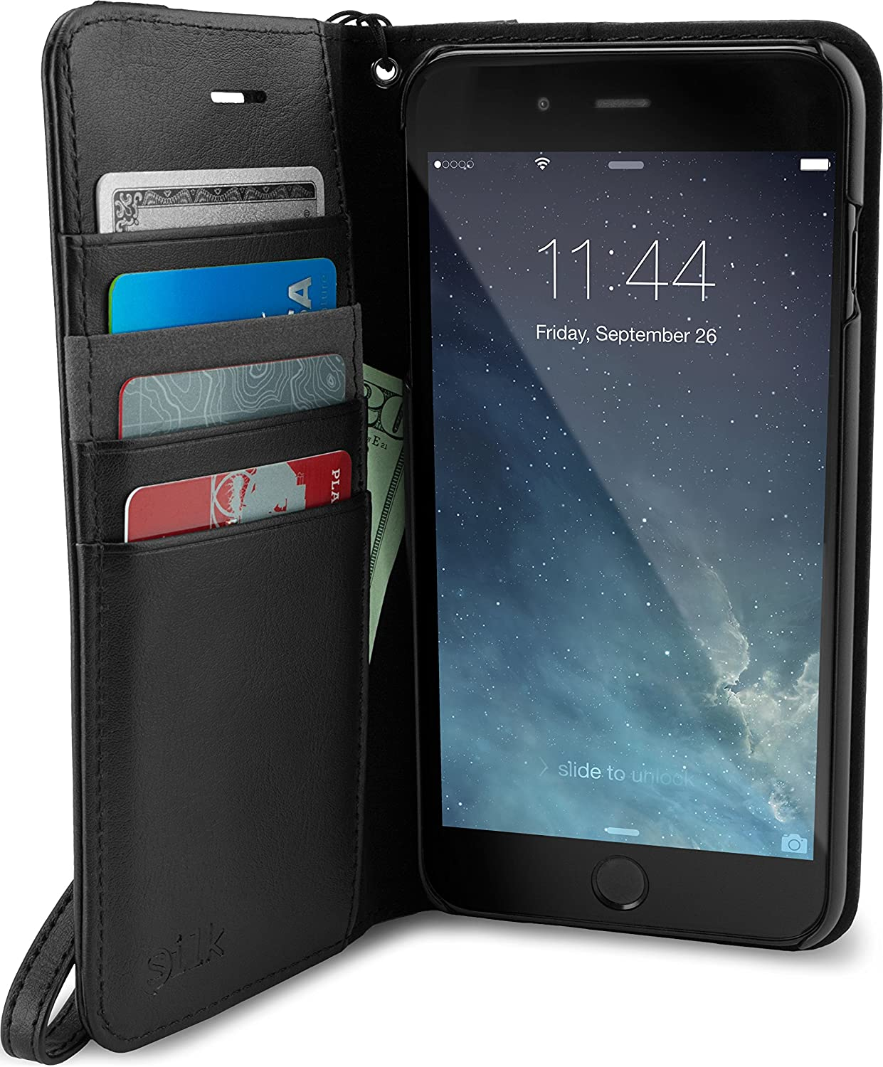 Amazon Com Smartish Silk Iphone 8 Plus 7 Plus Wallet Case Keeper Of The Things Folio Wallet Synthetic Leather Portfolio Flip Credit Card Cover With Kickstand Black Tie Affair