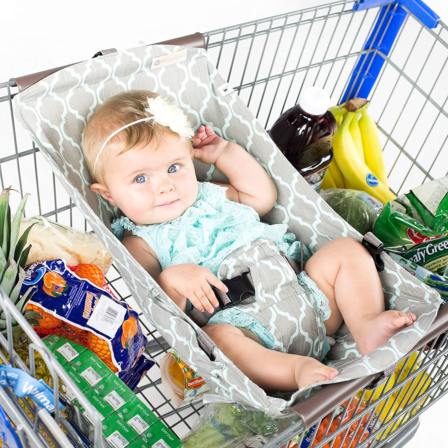 BINXY BABY Shopping Cart Hammock | The Original | Holds All Car Seat Models | Ergonomic Infant Carrier + Positioner : Baby