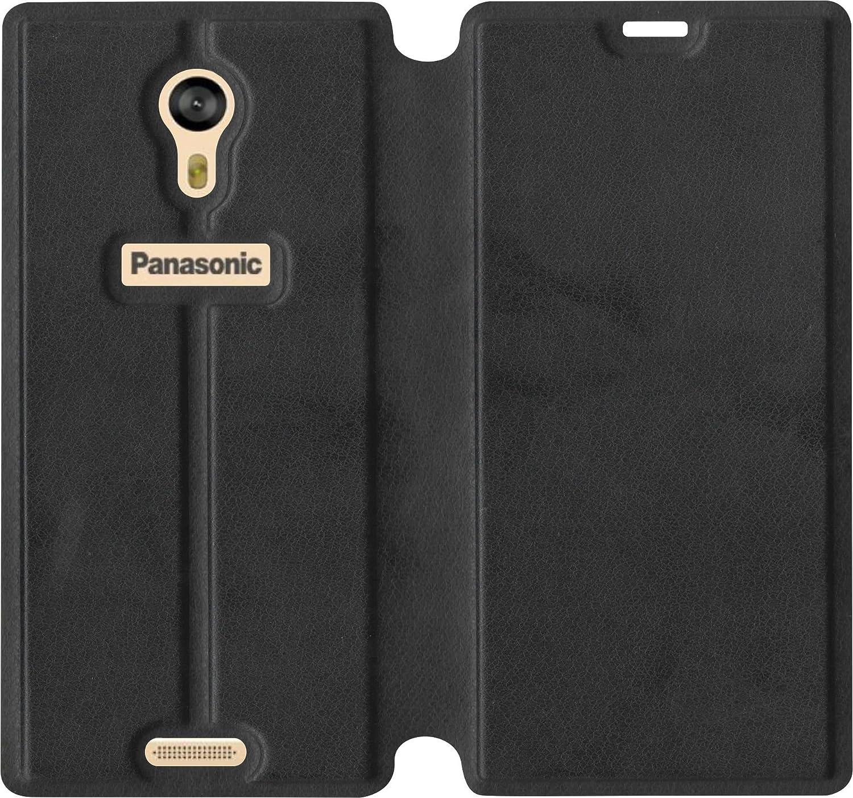 best service f5626 b4b9f SBMS Flip Cover for Panasonic Eluga A3 and Pro (Black)