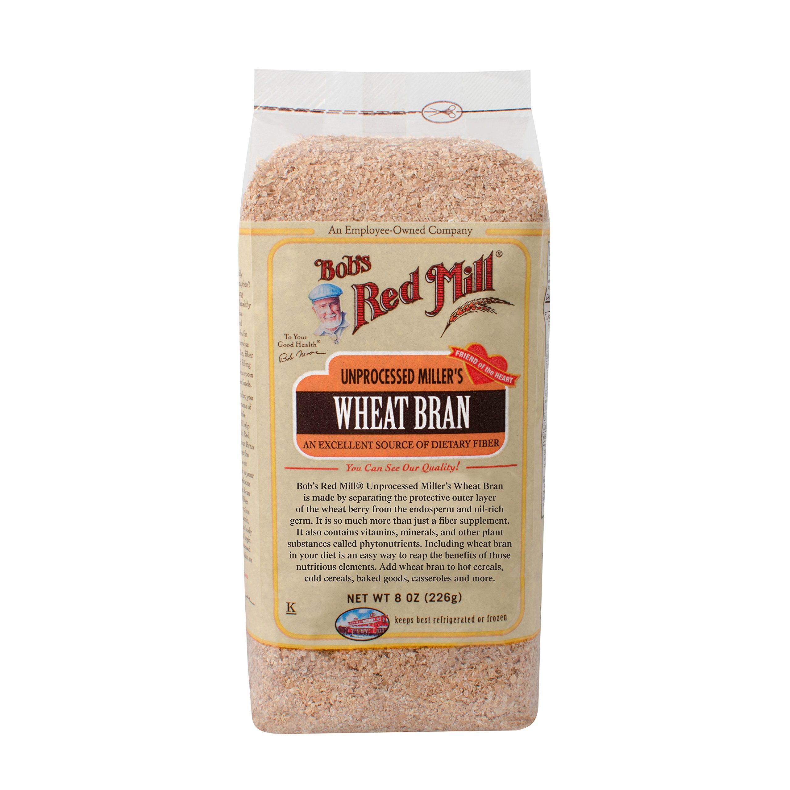 Bob's Red Mill Unprocessed Miller's Wheat Bran, 8 Ounce