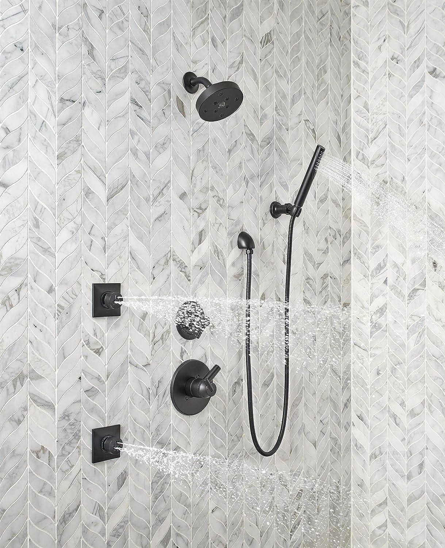 Delta Faucet 55085-BL Premium Single-Setting Adjustable Wall Mount ...
