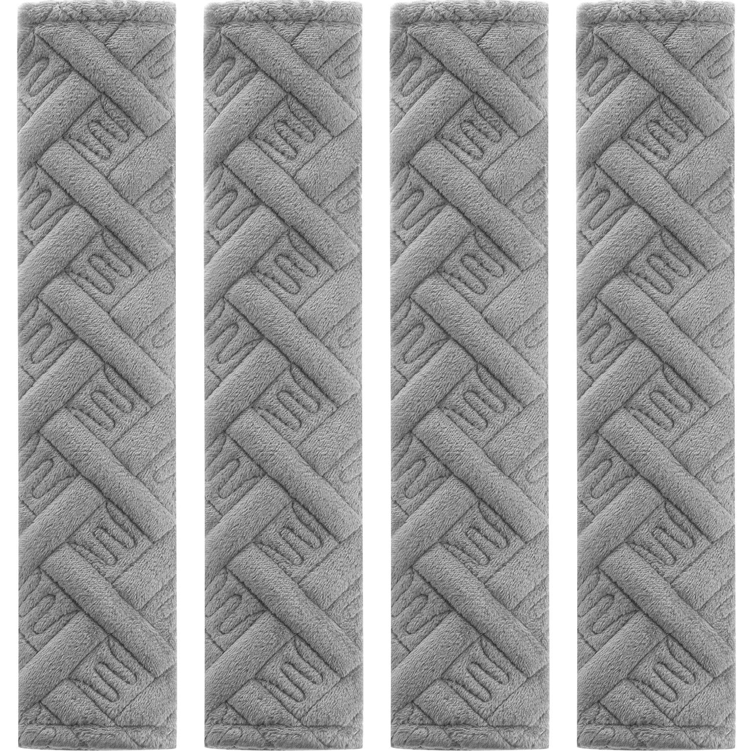 4 Pack Car Seat Belt Pads Seatbelt Protector Soft Comfort Seat Belt Shoulder Strap Covers Harness Pads Helps Protect Your Neck and Shoulder (Gray B) by Tatuo