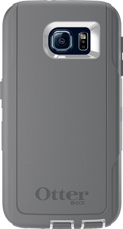 779e66e082a OtterBox DEFENDER SERIES for Samsung Galaxy S6 - Retail Packaging - Glacier  (White/Gunmetal