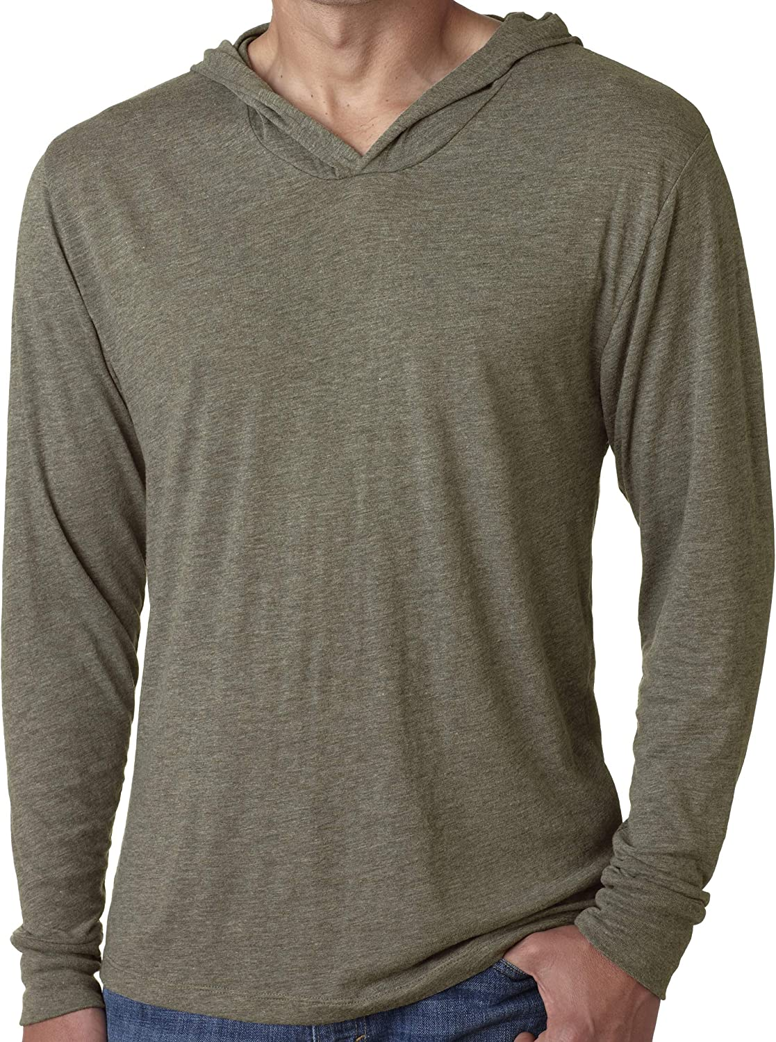 Yoga Clothing For You Mens Triblend Lightweight Hoodie Tee Shirt
