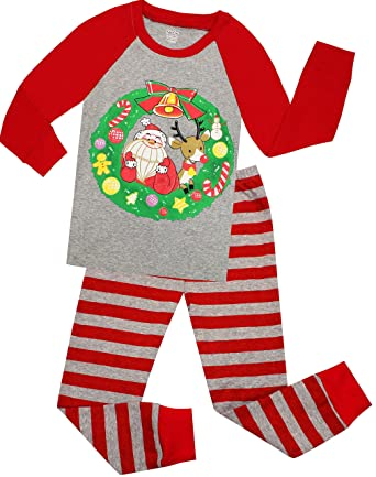 girls and boys christmas pajamas children santa claus sleepwear kids pjs  pants set size 2 years 5d5c342e0