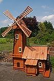 Windmühle mit integrierter Wassermühle++kugelgelagert