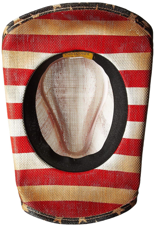 8b34252bcf820 Amazon.com  Gold Coast Sunwear 100534607 American Flag Cowboy Hat ...
