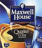Maxwell House 25 Sticks Café Soluble Qualité Filtre Décaféiné l'Étui 45 g