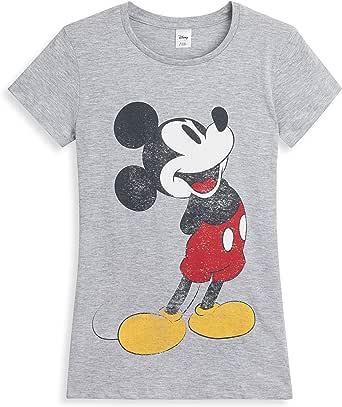 Disney Camisetas Mujer Manga Corta, Ropa Mujer Verano Algodon Suave, Camiseta Mujer Gris con Estampado Mickey Mouse, Regalos para Mujer Chica Adolescente Talla 36-50: Amazon.es: Ropa y accesorios