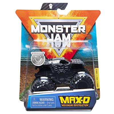 MonsterJam 1:64 Scale Maximum Destruction MAX D, Black: Toys & Games