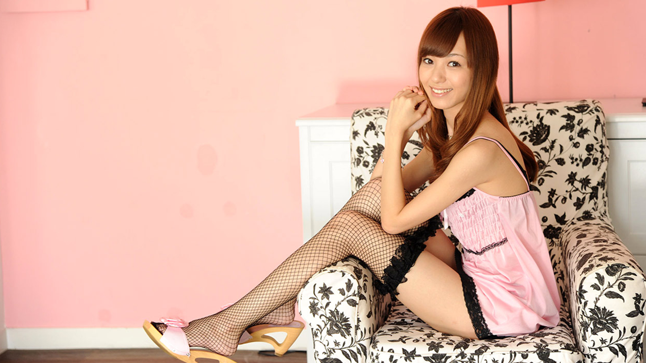 Hot asian teen relaxing with