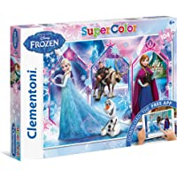 Clementoni - Puzzles 104 + App Disney Frozen 2, For 3 Years & Above