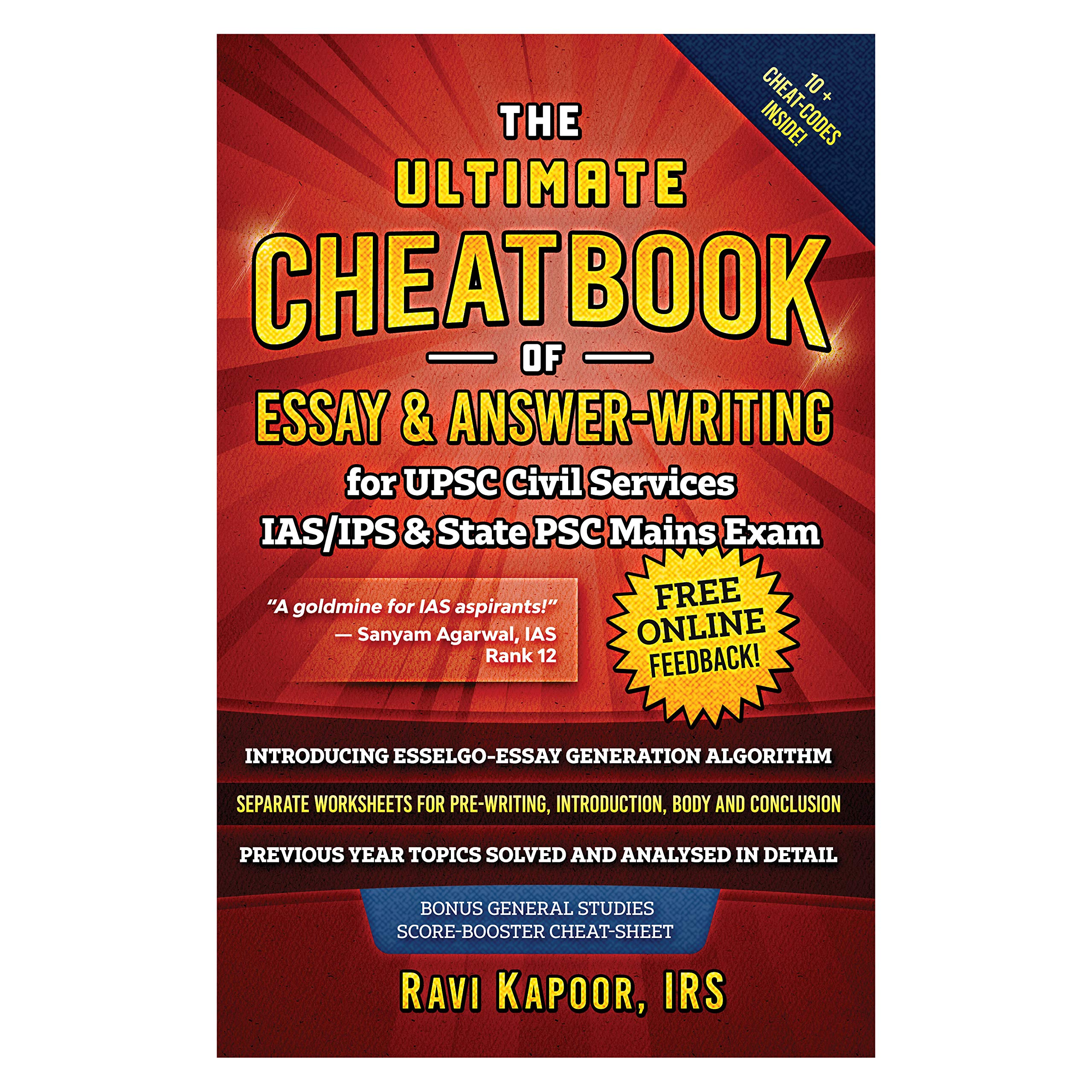 IRS Ravi Kapoor : UPSC Civil Service IAS-IPS, IES and State PSC Main Exam Preparation, CSE,CAPF,UPPSC Essay and Answer-Writing Cheatbook Free download,