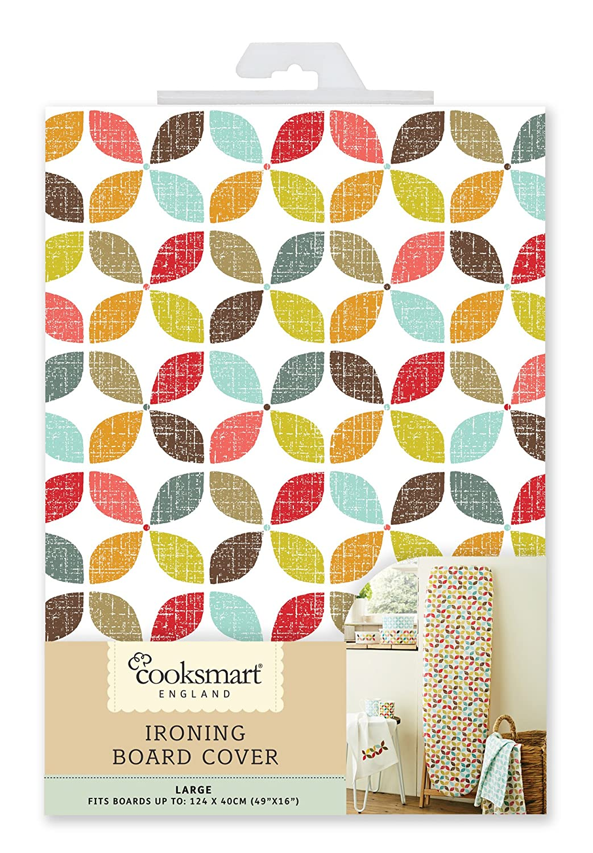 Cooksmart Large 124 x 40cm Ironing Board Cover, Retro Design