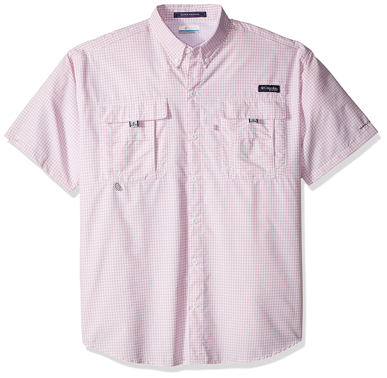 Breathable Columbia Mens PFG Super Bahama Short Sleeve Shirt UV Protection