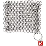 """Knapp Made Original CM Scrubber 4"""" Chainmail Scrubber - Cast Iron Cleaner - For Cast Iron, Stainless Steel, Hard…"""