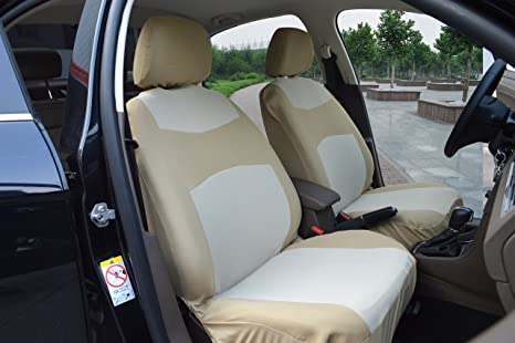 Amazon Com 116003 Tan Fabric 2 Front Car Seat Covers Compatible To