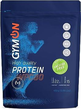 GYMON Lactose Free Whey Protein. Concentrado de proteína de suero de leche, 450g (Tropical)