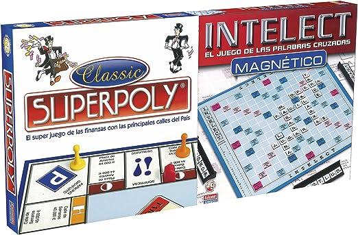 Falomir Superpoly + Intelect magnético, Juego de Mesa, Clásicos (11699): Amazon.es: Juguetes y juegos
