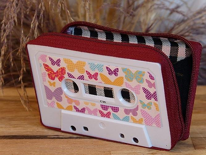 Monedero handmade hecho con cinta de cassette: Amazon.es ...