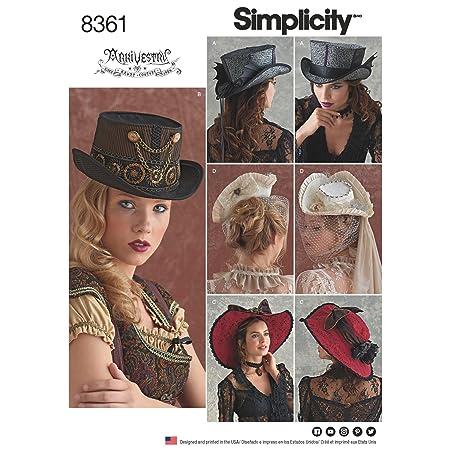 21//22//58,4/cm semplicit/à Modello S-M-L Cappelli da Cucito Bianco