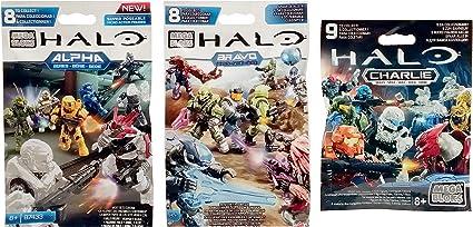 3 Packs Total of 3 Packs Bravo Series Mini Figure Blind Bags Mega Bloks Halo