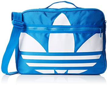 adidas Airliner Trefoil Shoulder Bag - Bluebird White  Amazon.co.uk ... cc6daadfb7f1b
